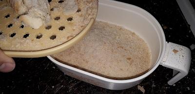 下ろして作る粗いパン粉