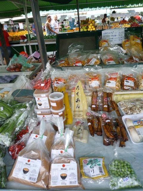 モジの朝市の日本食材