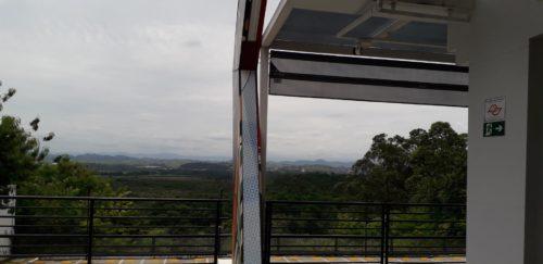 サンジョゼすき家テラス席の景色